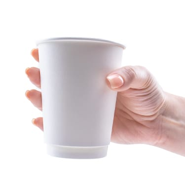 12oz Double Wall Hot Cups - Unprinted