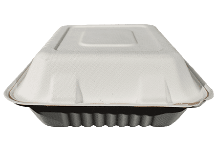 8x8 Bagasse Food Container - 1 Compartment