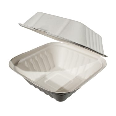 6x6 Bagasse Food Container