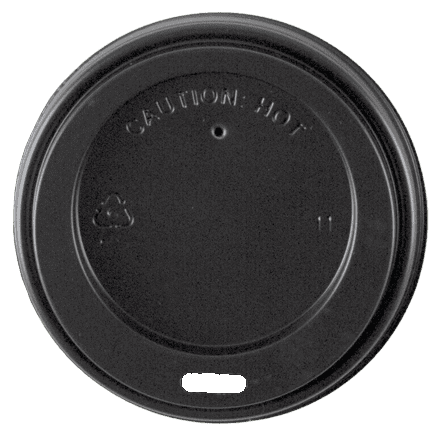 8oz Black Hot Lid