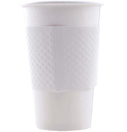 White Dimple Coffee Sleeves