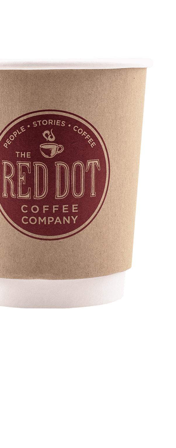 8oz Double Walled Kraft Hot Cups - Full Wrap Printed