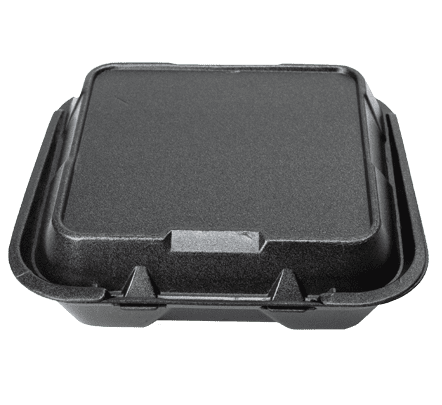"9.25"" x 9.25"" Black Foam 3 Compartment Tray"