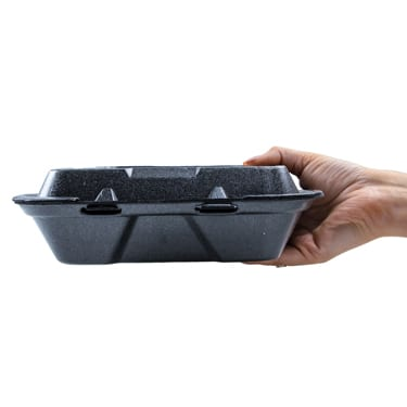 9.25x9.25 Black Foam Food Container
