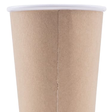 Blank 16oz Kraft Insulated Paper Hot Cups