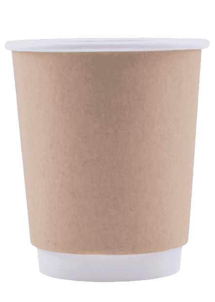 Blank 8oz Kraft Insulated Paper Hot Cups