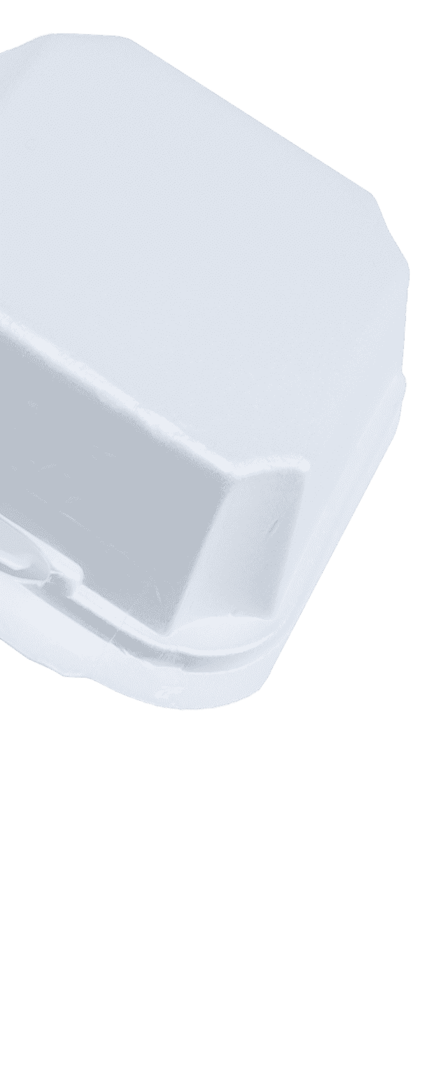 6x6 White Foam Food Container