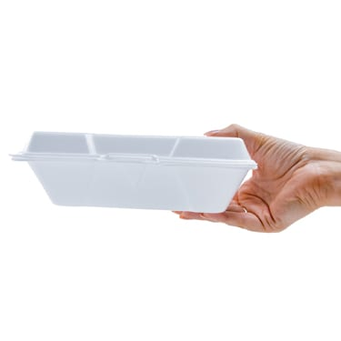 9.25x6 White Foam Food Container