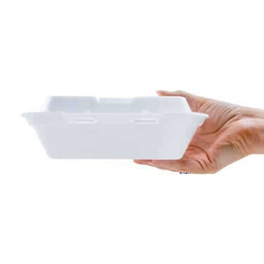 8x8 White Foam Food Container