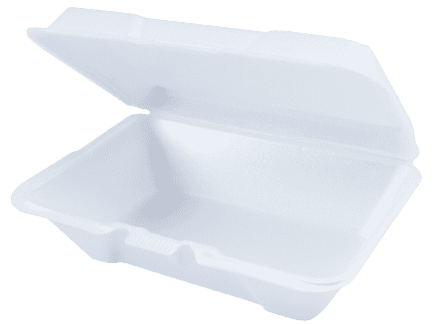 9.25x6 White Foam Food Containers