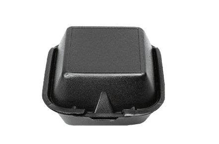 6x6 Black Foam Containers