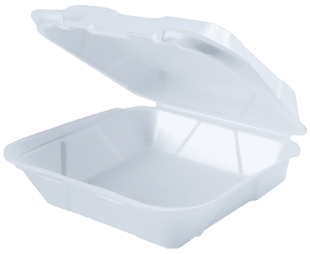 9.25x9.25 White Foam Food Container