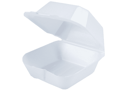 6x6 White Foam Food Containers