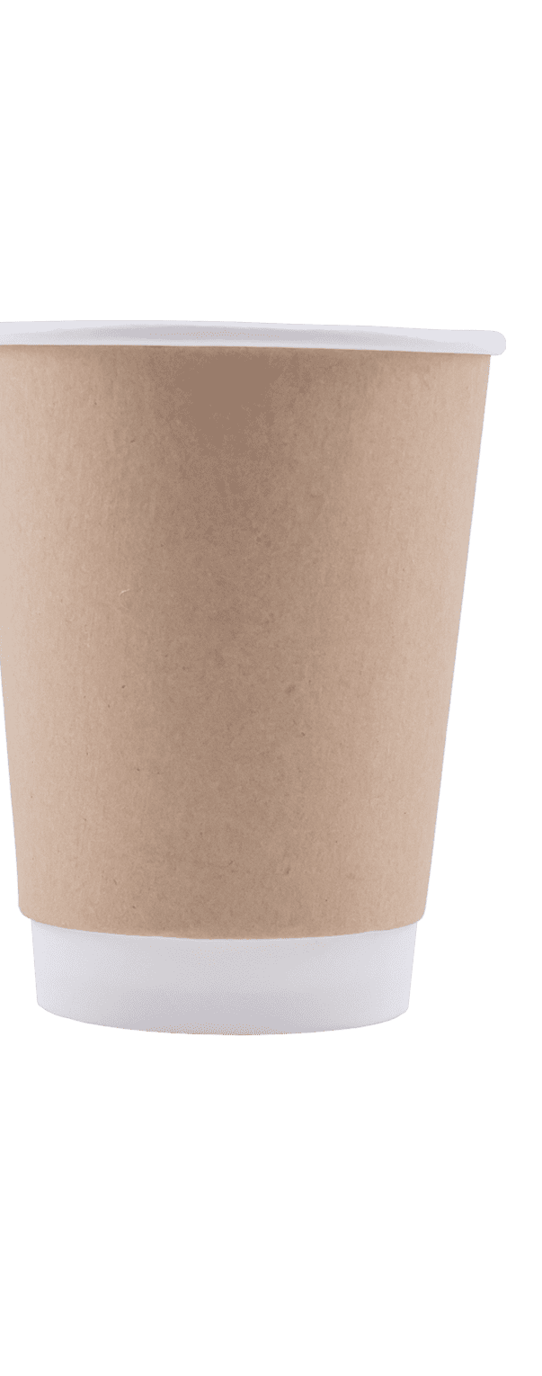 12 oz Kraft Double Wall Hot Cup