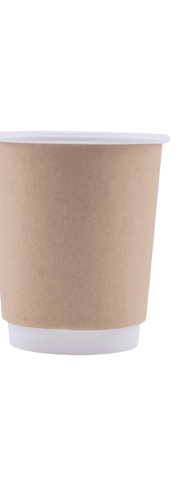 8 oz Kraft Double Wall Hot Cup