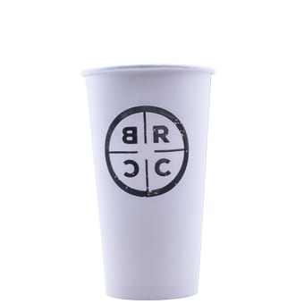 20 oz Custom Printed Eco-Friendly White Paper Hot Cups