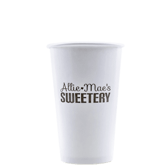 16oz Custom Printed White Paper Cold Cups