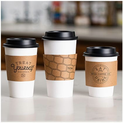 Corrugated Coffee Sleeves