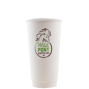 20 oz Custom Printed Double Wall Hot Cups