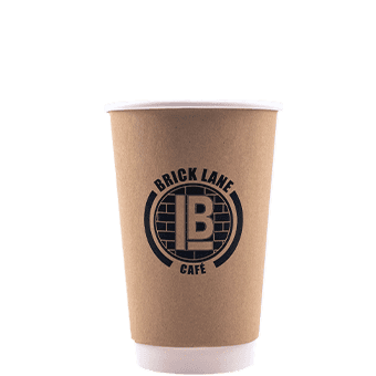 16 oz Custom Printed Double Wall Paper Hot Cups